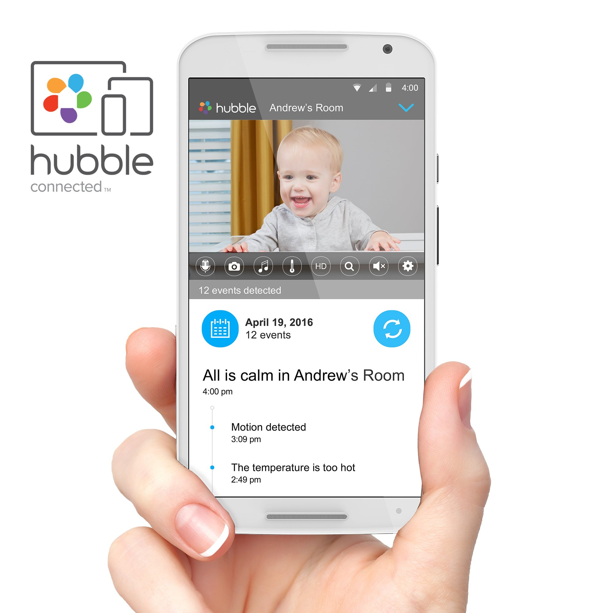 Motorola MBP845CONNECT-2 5'' Video Baby Monitor with Wi-Fi Viewing, 2 Cameras, Digital Zoom, Two-Way Audio, and Room Temperature Display by Motorola Baby (Image #3)