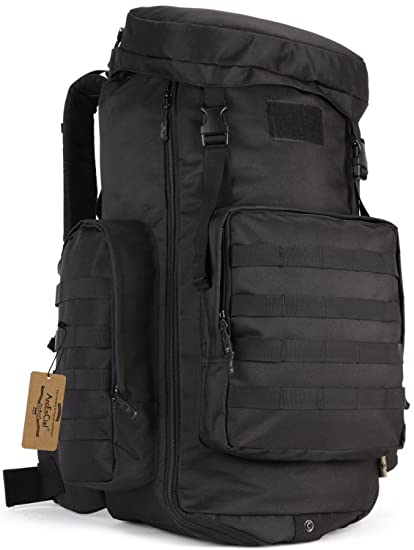 ArcEnCiel 70-85L Large Capacity Tactical Travel Backpack MOLLE Rucksack  Outdoor Travel Bag for Travelling Trekking Camping Hiking Hunting -Rain  Cover ... fd9f0cba40e16