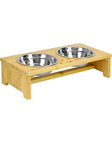 Modern Ceramic Raised Cat Bowl Pet Dog Feeder Metal Stand Dishes Nonslip 2 Bowls High Resilience Dishes, Feeders & Fountains