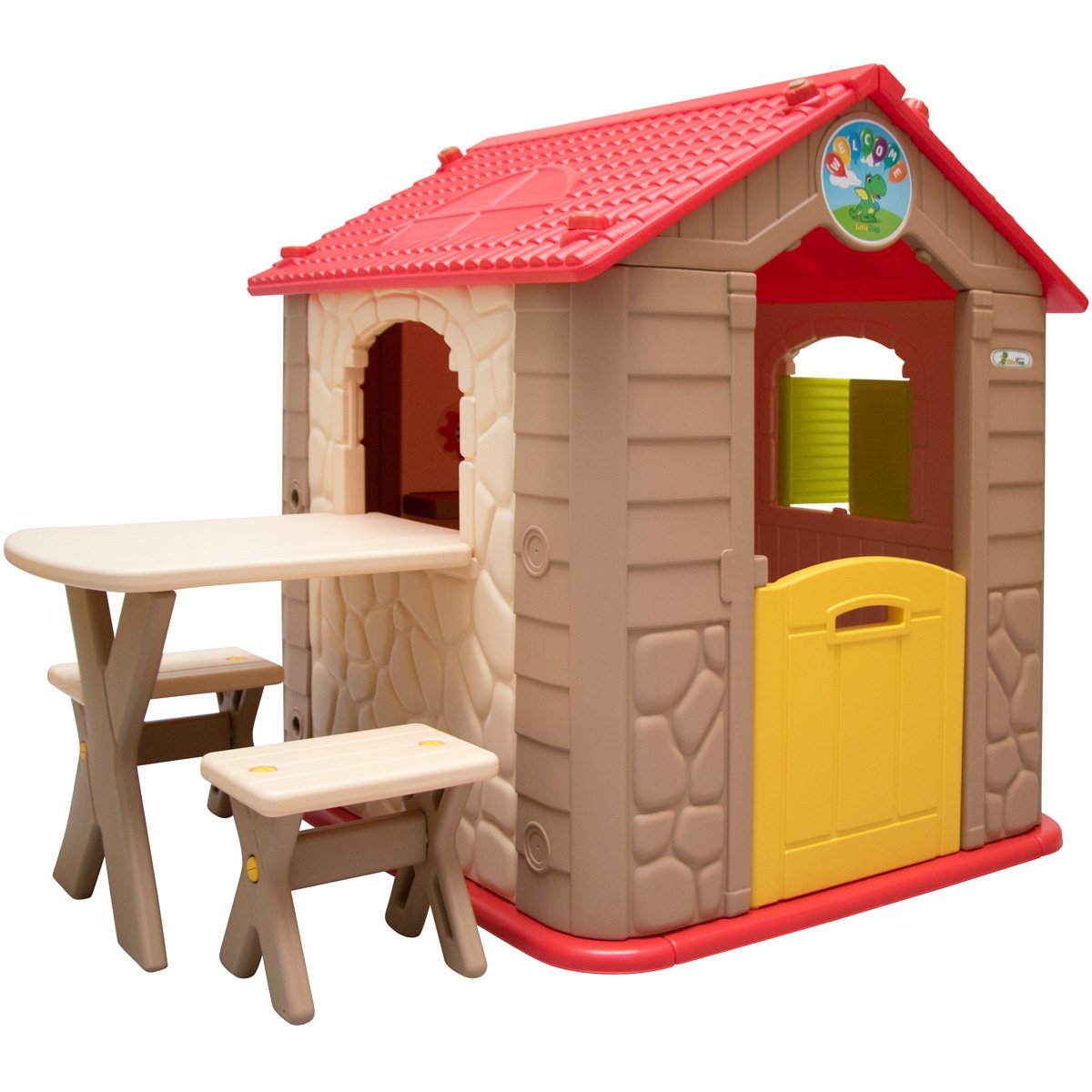 LittleTom childrens Playhouse incl 1 table 2 benches for boys and ...