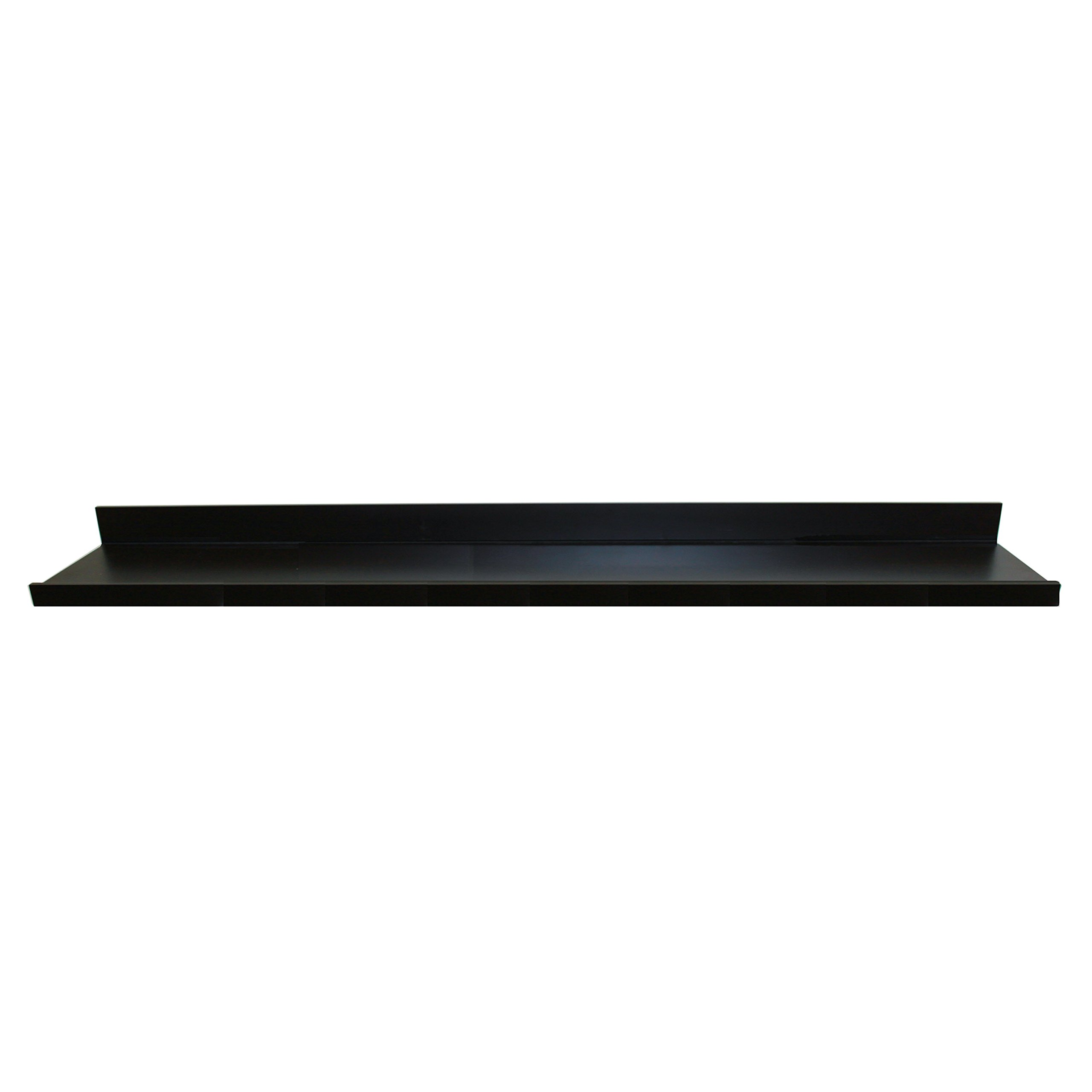 InPlace Shelving 9084684 Floating Shelf with Picture Ledge, Black, 72-Inch Wide by 4.5-Inch Deep by 3.5-Inch High
