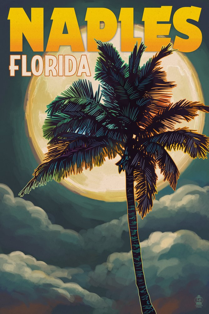 【日本限定モデル】 ナポリ、フロリダ州 – – 12 手のひらと月 12 x Giclee 18 Art Print LANT-44741-12x18 B017E9V2J2 36 x 54 Giclee Print 36 x 54 Giclee Print, 挨拶状 はがき 印刷 帰蝶堂:73df7c44 --- urviinteriors.com