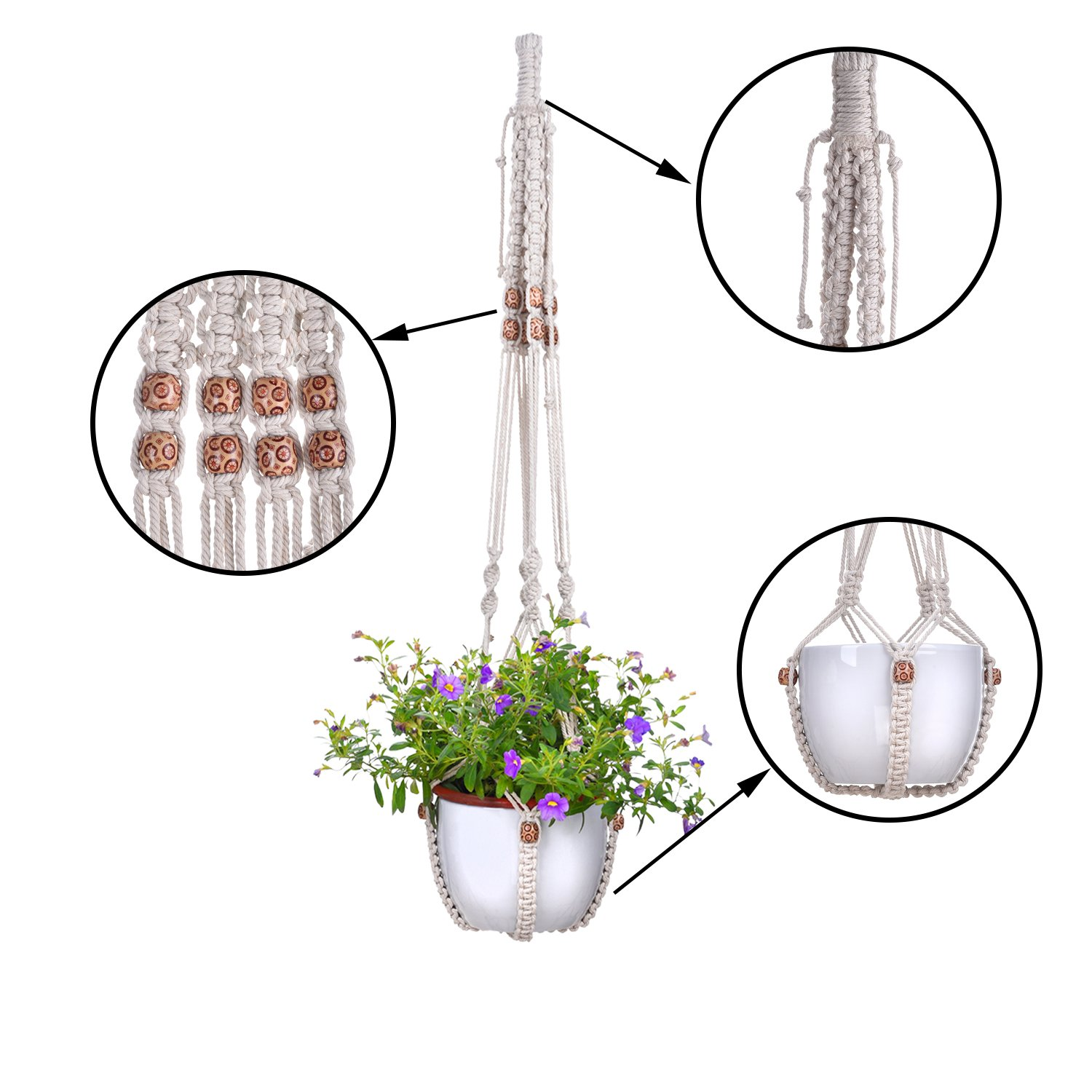Amazoncom Eboot 3 Set Plant Hanger Flower Pot Plant Holder