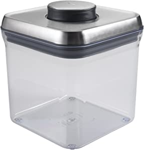 OXO SteeL 2.4 Qt POP Container – Airtight Food Storage – for Sugar and More