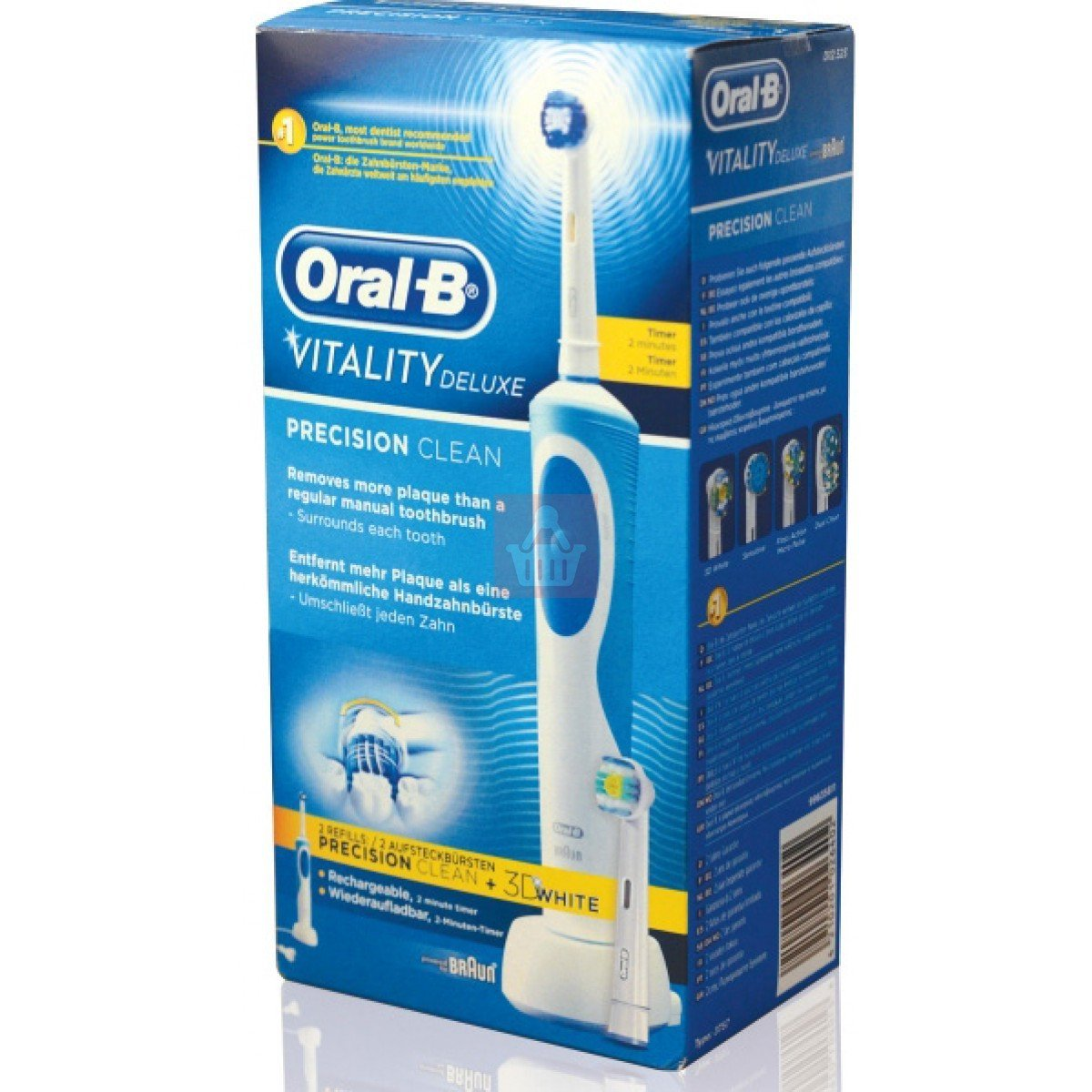 Braun Vitality D12.523 Oral-B Toothbrush with Extra Replacement Head, European Cord (Not for USA/Canada) 71o2xx5kYWL