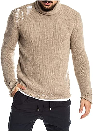 Camisas de Hombre Camisetas Pullover Suéter Color Sólido ...
