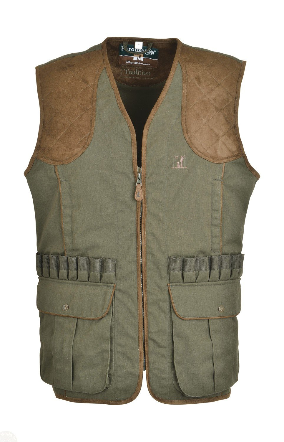 Percussion Gilet de chasse Tradition broderie Percussion-S