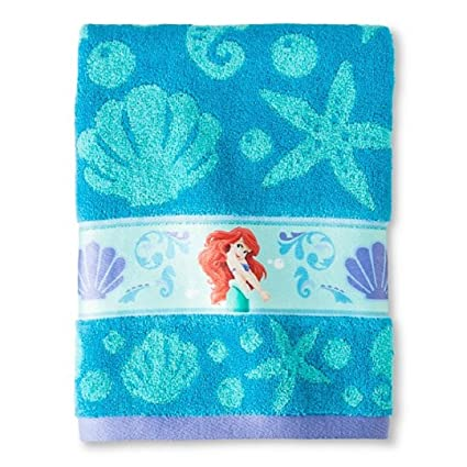 Disney Little Mermaid ~ Embroiderd ~ Bath Towel