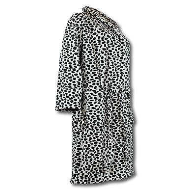 3b9657a039fff0 Lavazio Bademantel Morgenmantel Wellnessmantel Animalprint Mikrofaser  Deluxe für Damen, Größe:XL, Farbe: