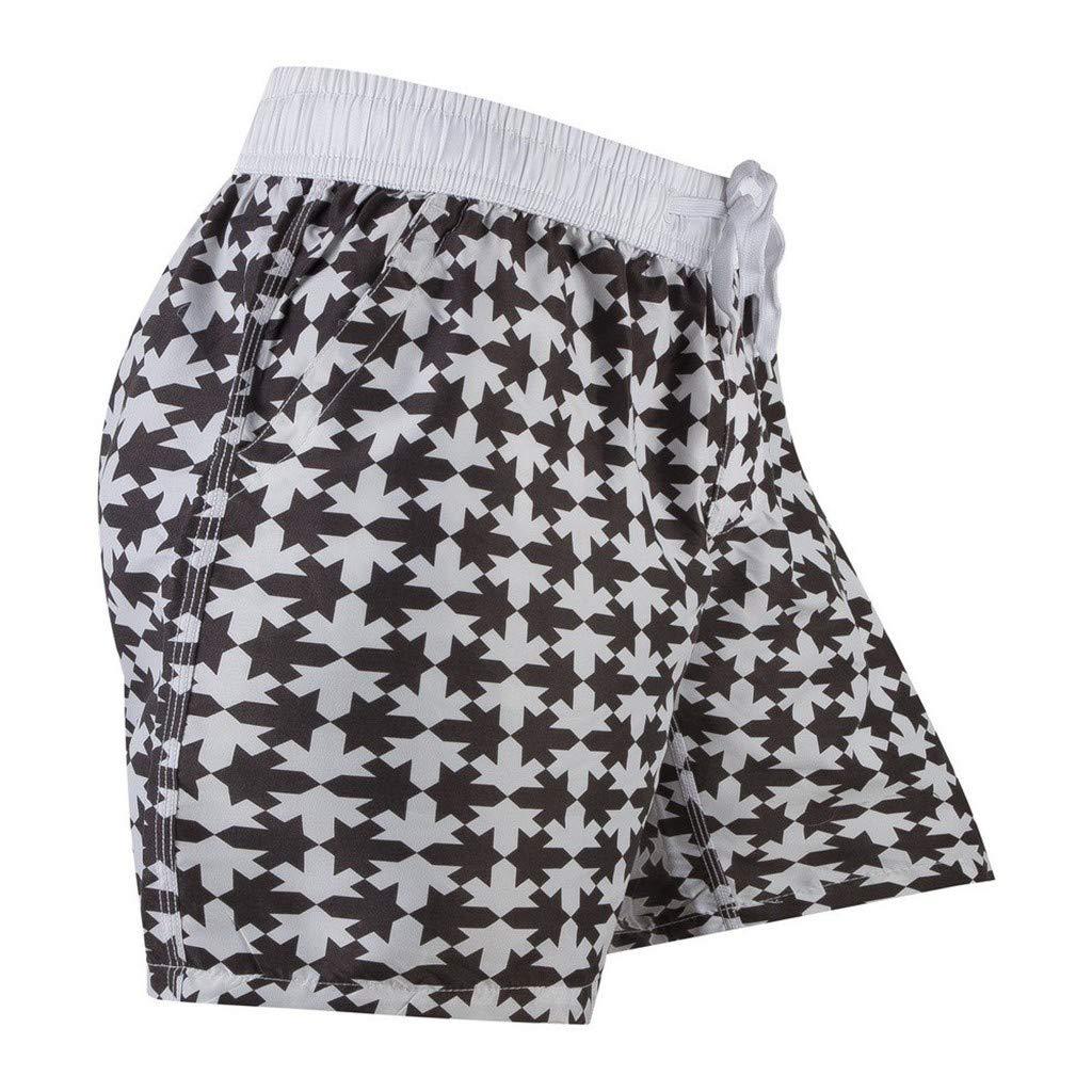 HOUSINGLOVES Fashion Men Breathable Trunks Pants Beach Print Running Swimming Underwear