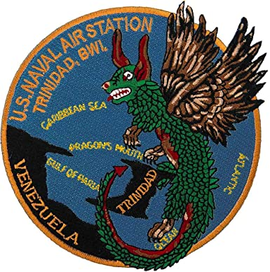 Amazon.com: Naval Air Station Trinidad, BWI Patch Full Color: Clothing