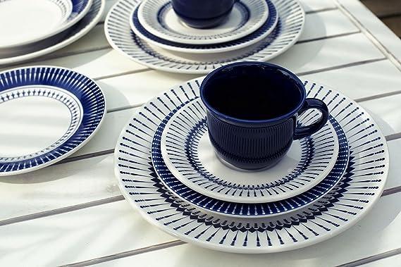 Amazon.com   Oxford 20 Piece Biona Colb Dinnerware Place Setting, White - 7891361942008: Dinnerware Sets