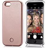 Neatday LED Lighted Selfie Phone Case for iPhone 6/6S Plus - Rose Gold