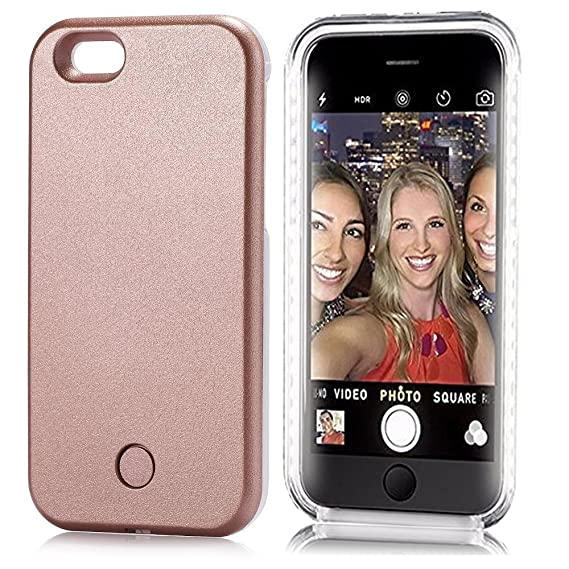 purchase cheap a81f4 4507f Neatday LED Lighted Selfie Phone Case for iPhone 6/6S Plus - Rose Gold