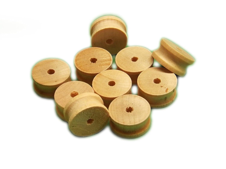 Trustleaf 50 x 20mm Diameter Birch Hardwood Wooden Pulleys