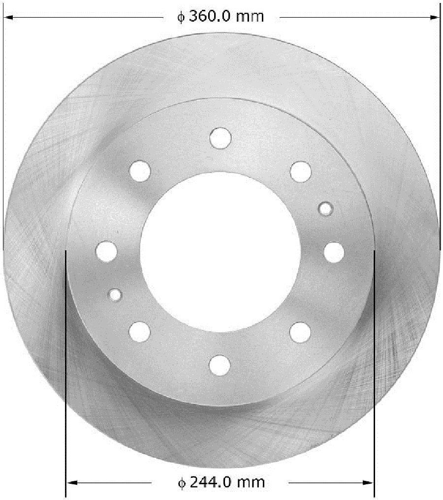 Bendix Premium Drum and Rotor PRT6075T Rear Brake Rotor