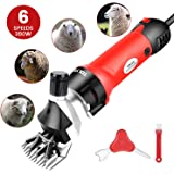 TOLYS 380W Electric Sheep Shears, Portable Sheep Clippers with 6 Speed,Electric Goat Shears for Sheep Goat Llama Horse Alpaca