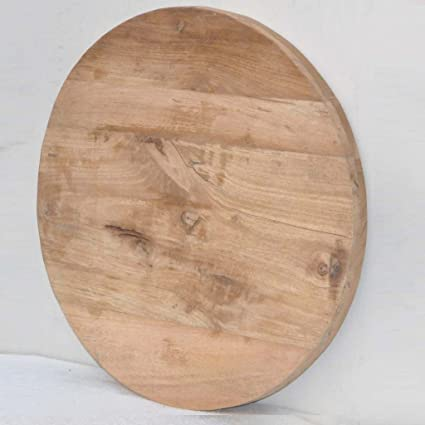 Antique Rustic Reclaimed Wood Round Table Top 24u0026quot;x 24u0026quot; X  1.5u0026quot; Natural