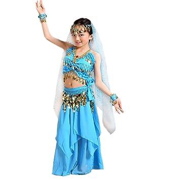 Seawhisper® Traje Danza Oriental Baile del vientre Conjunto Disfraz de bailarina Halloween para niñas