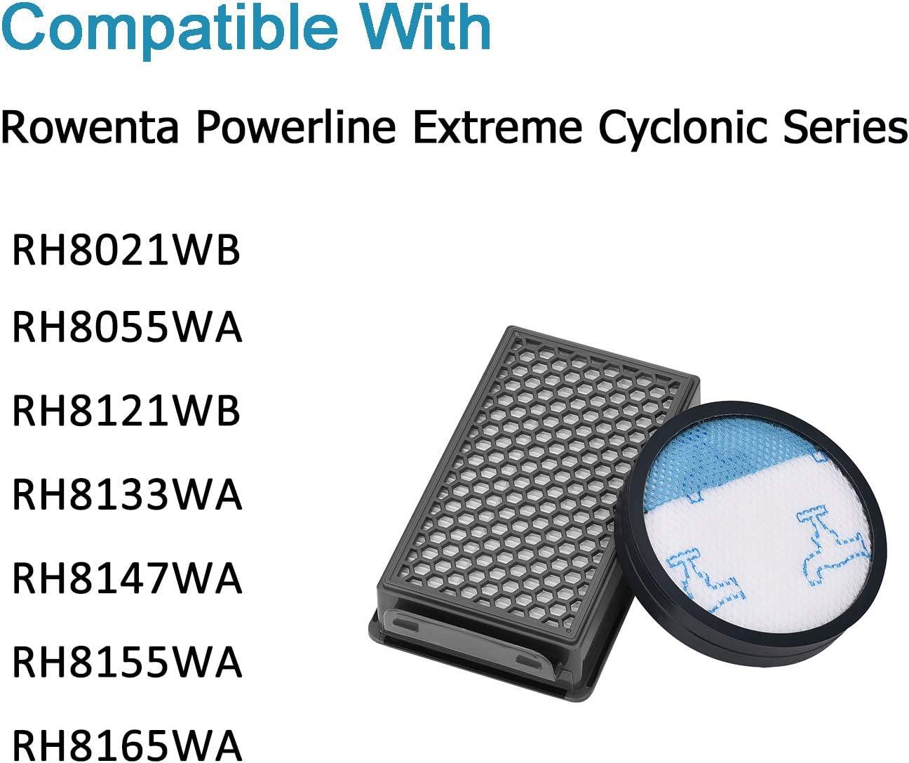 Nrpfell 3 Packs Filtro per Aspirapolvere Rowenta Powerline Extreme Cyclonic Ricambi Filtri Accessori RH8021WB RH8055WA ZR903601