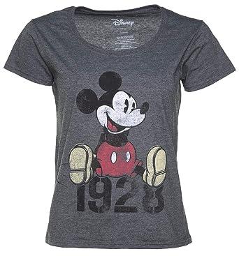 suche nach authentisch Genieße den niedrigsten Preis 2020 Disney Micky Maus 1928 lockeres Damen T Shirt Schiefergrau