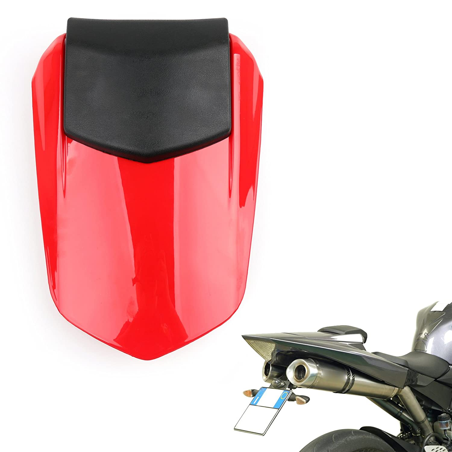 ZXMOTO Motorcycle Rear Pillion Passenger Seat for 2002 2003 Yamaha YZF R1