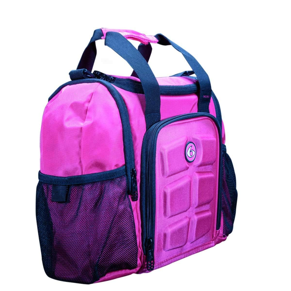 6 Pack Fitness Insulated Meal Prep Bag, Mini Innovator Pink/Black, Meal Prep Bag by 6 Pack Fitness