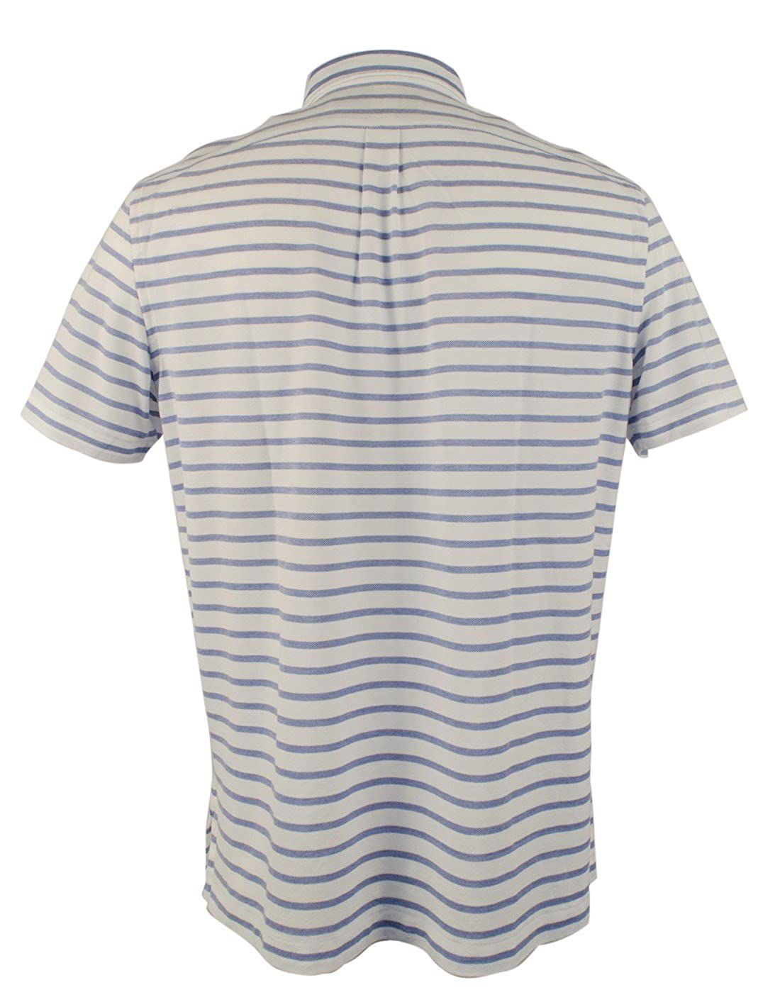 82264a96 Polo Ralph Lauren Men's Striped Hampton Knit Oxford Short Sleeve Polo Shirt  at Amazon Men's Clothing store: