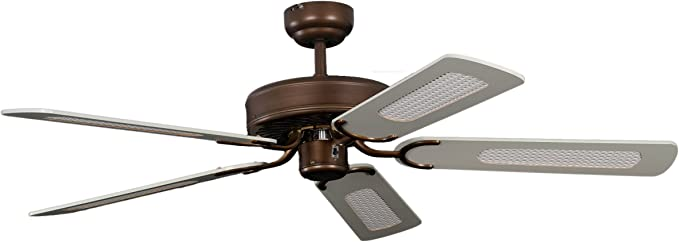 Pepeo Potkuri ventilador de techo sin luz, carcasa de bronce viejo ...
