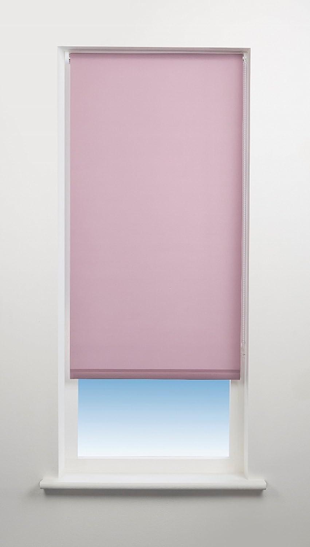 New Blackout Fabric Roller Blind Diamante Border Straight Edge Drop 160cm Pink
