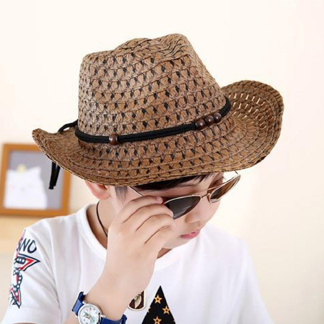 798aebc6f7b4ef Amazon.com: ShenPourtor Women/Men's Summer Cool Short Brim Straw Fedora Sun  Hat WIth Stylish Hat Band (Navy Blue): Toys & Games