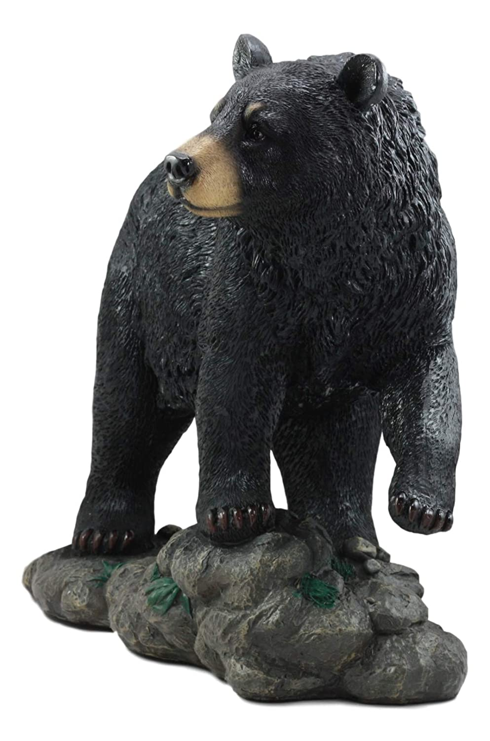 Ebros Large Realistic Strolling Black Bear Statue 16.5 Long Rustic Cabin Decor Figurine