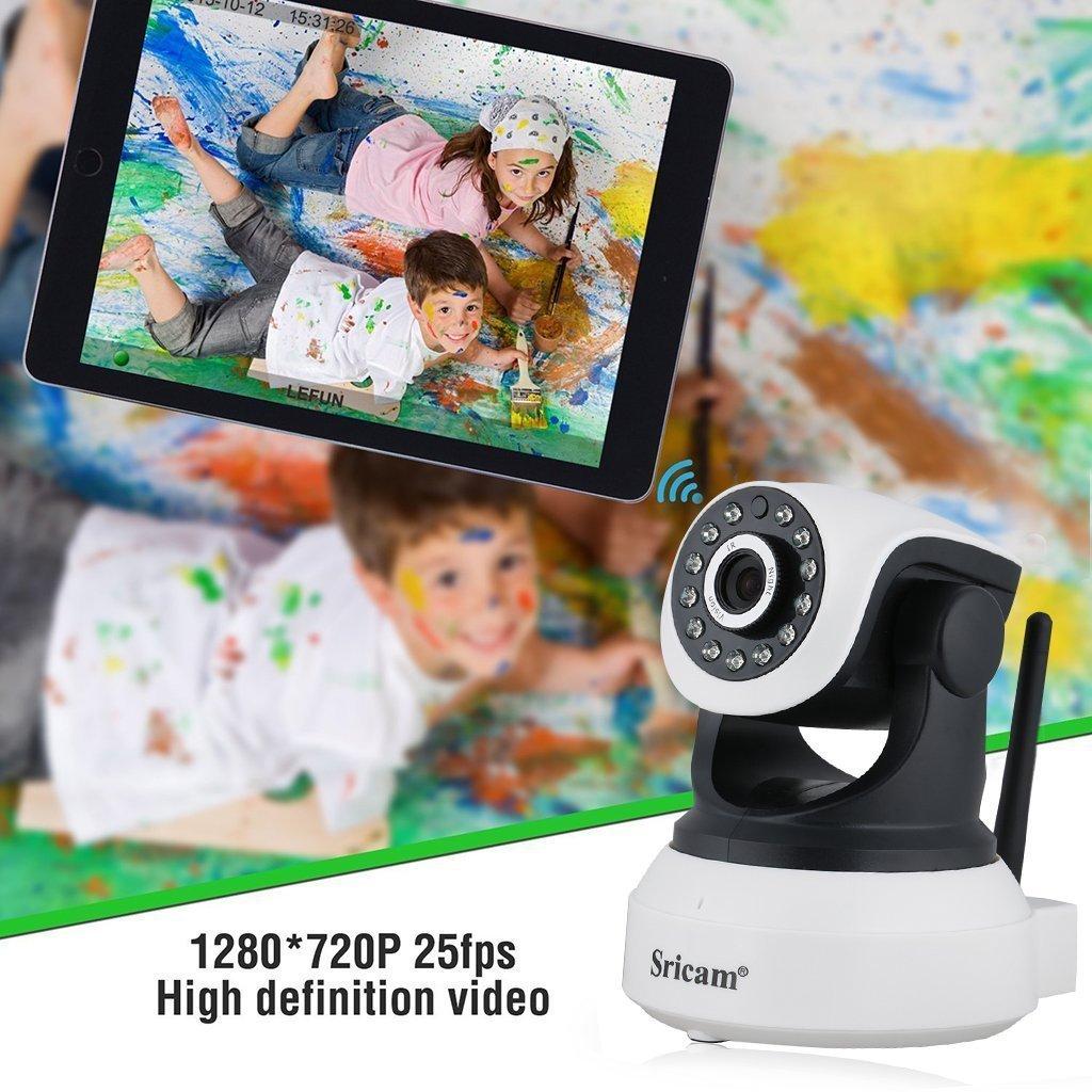 MARVTEK Sricam SP017 IP WiFi P2P Cámara de Video Vigilancia HD 720P con IR-LED Visión Nocturna con Detección de movimientos. Camara Vigila Bebe.