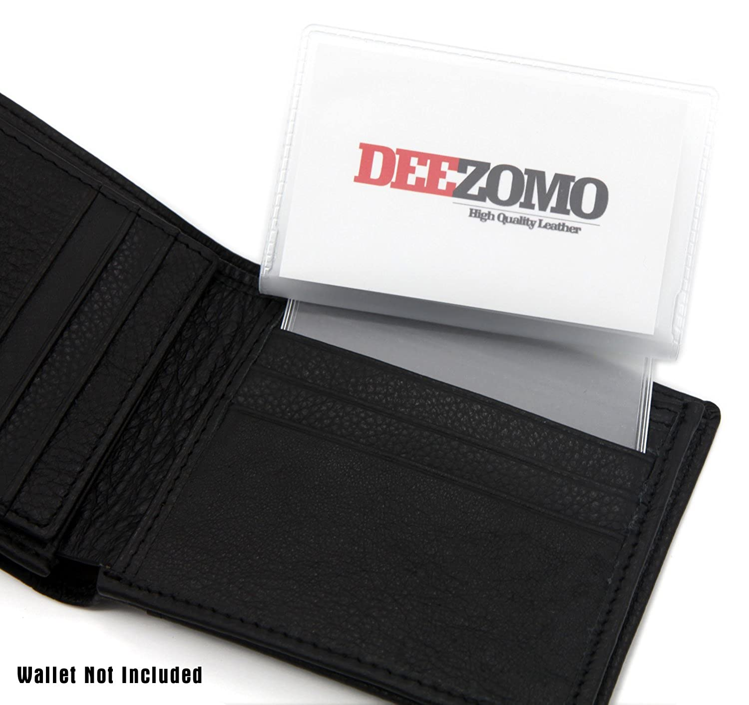 SET OF 2 Wallet Inserts Replacement 6 Page Card Holder for Bifold or Trifolds Wallet