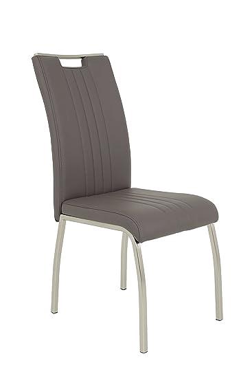 chrom//schneeweiss IDIMEX Esszimmer Stuhl DORIS Set mit 4 St/ühlen