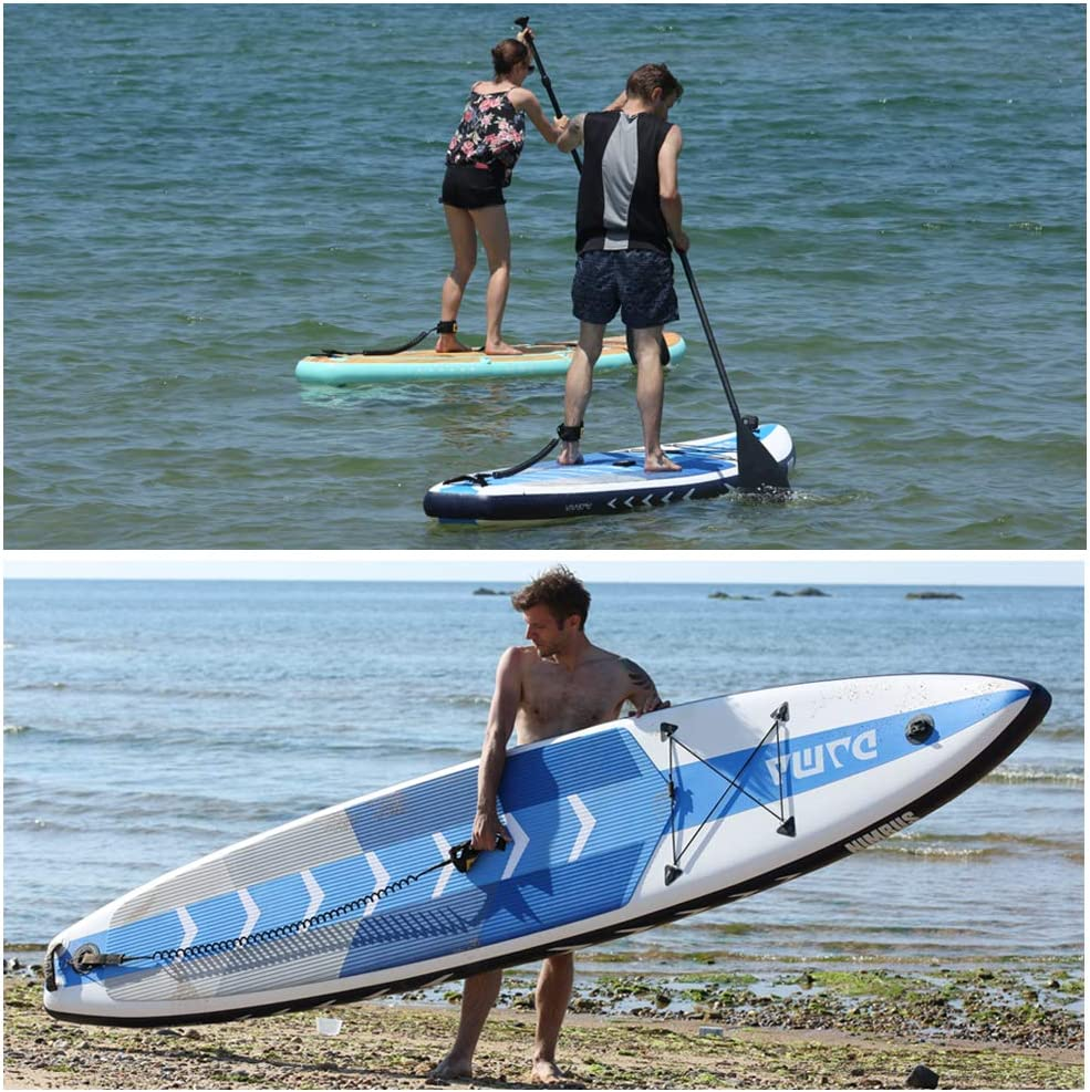 DAMA Inflatable Stand up Paddle sup Board,fin,Carry Bag,Paddle,Hand Pump,Leash,Repairing kit,mobilephone Waterproof Bag,All Round Board,for Professional Youth and Adult,Blue