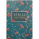 Bíblia NVI. Leitura Perfeita - Capa Flores. Letra Grande. Couro Soft