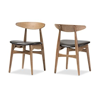 Baxton Studio Set Of 2 Juliette Mid Century Modern Finishing Bentwood  Dining Chairs, French