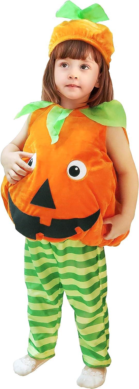 Disfraces de Halloween para niños, Chaleco de Calabaza cálido para niñas y niños