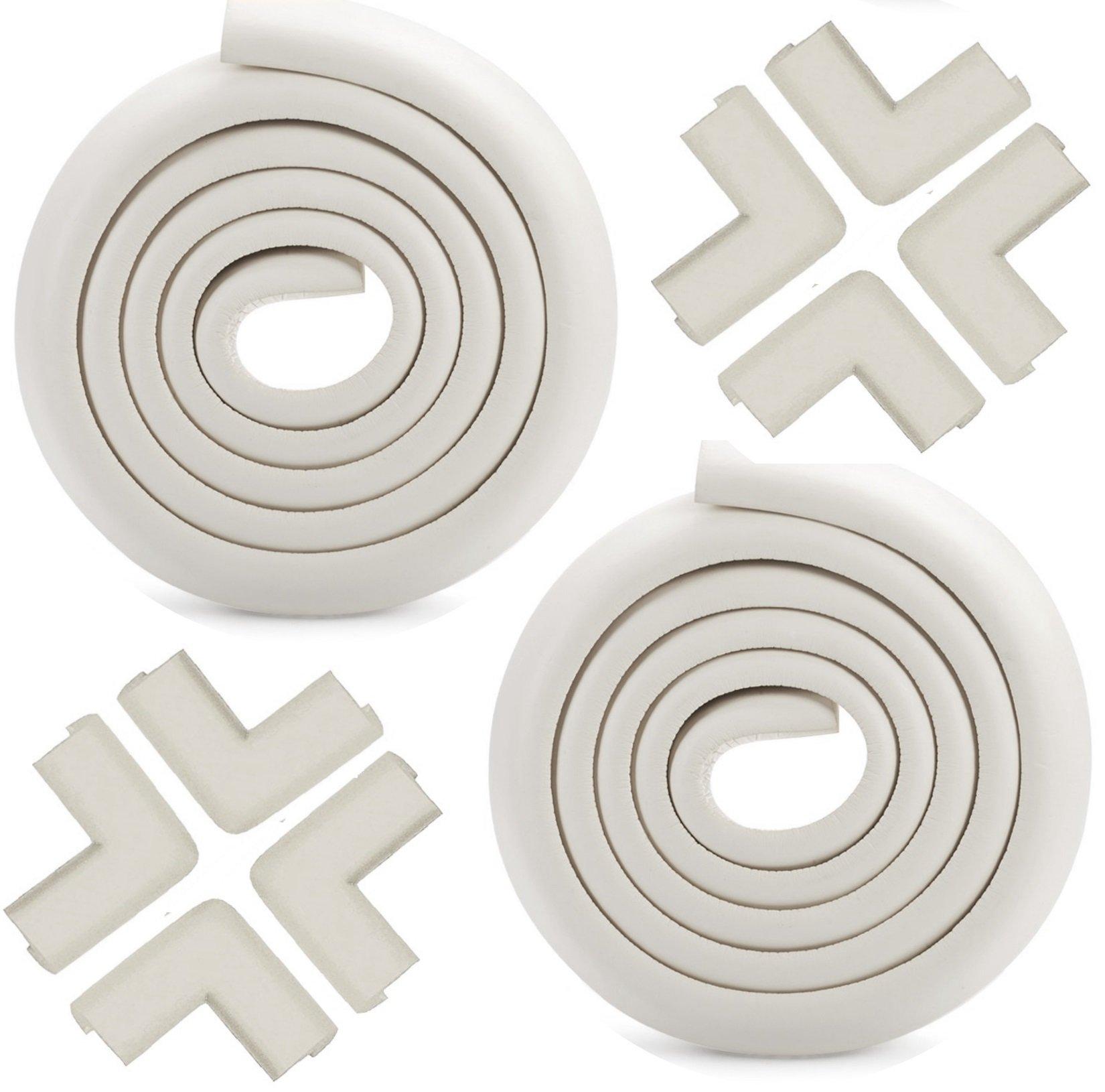 Agapo Protectores para bordes y esquinas Mesa Mueble Antigolpes Seguridad para Ninos de 2 x 2