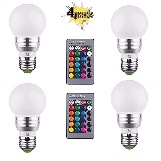 Kobra Products Retro Led Color Changing Light Bulb With Remote Control (Pack Of 4) by Kobra Products