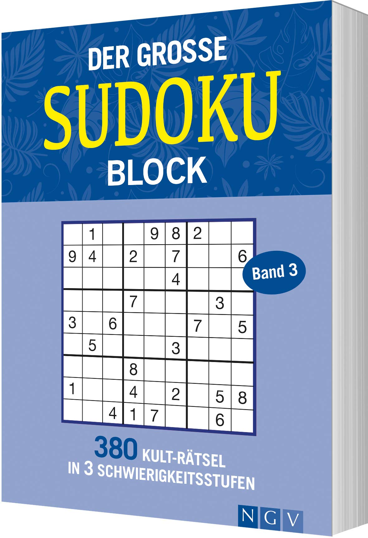 Der Große Sudokublock Band 3  380 Kulträtsel In 3 Schwierigkeitsstufen