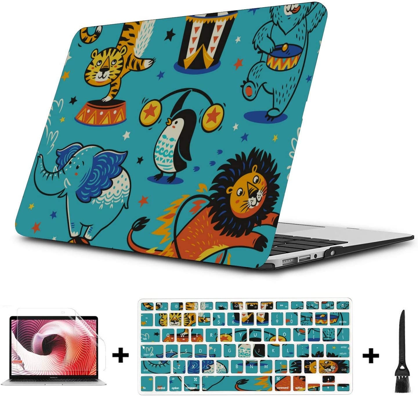 Mac Book Pro Cover Surprise Creative Happy Painting Plastic Hard Shell Compatible Mac Air 11 Pro 13 15 Macbookpro Case Protection for MacBook 2016-2019 Version
