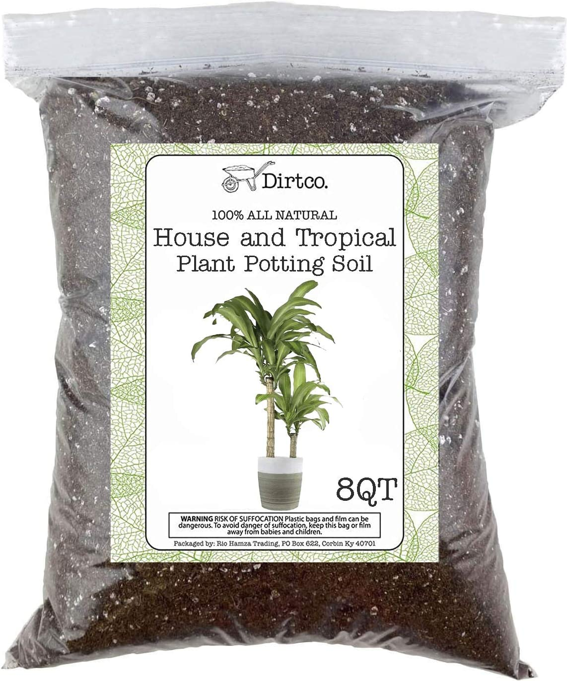 Re-Potting Soil for All Types of Indoor House Plants House Plant Re-Potting Soil House Plant and Tropical Plant Potting Soil 8qt