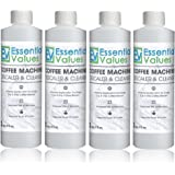 Essential Values Keurig Descaler (4 Pack), Universal Descaling Solution For Keurig, Delonghi, Nespresso And All Single Use, Coffee Pot & Espresso Machines