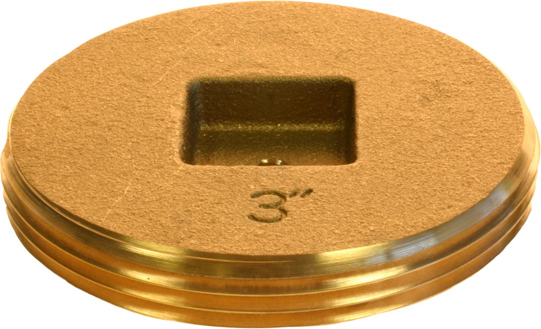 Plumber's Choice 90365 4-Inch Brass Countersunk Square Cleanout Plug