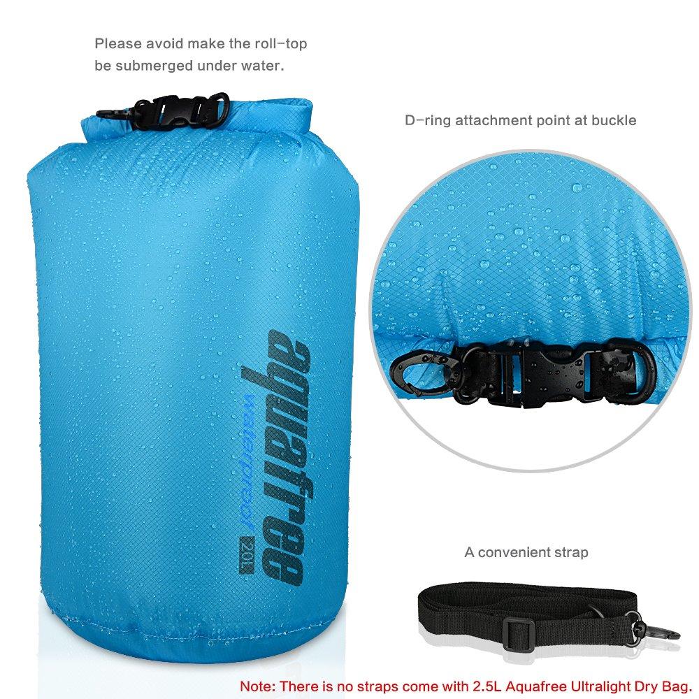 Aquafree Ultralight Borsa impermeabile leggera ultraleggera, mantiene gli attrezzi sicuri e asciutti durante gli sport acquatici e le attività