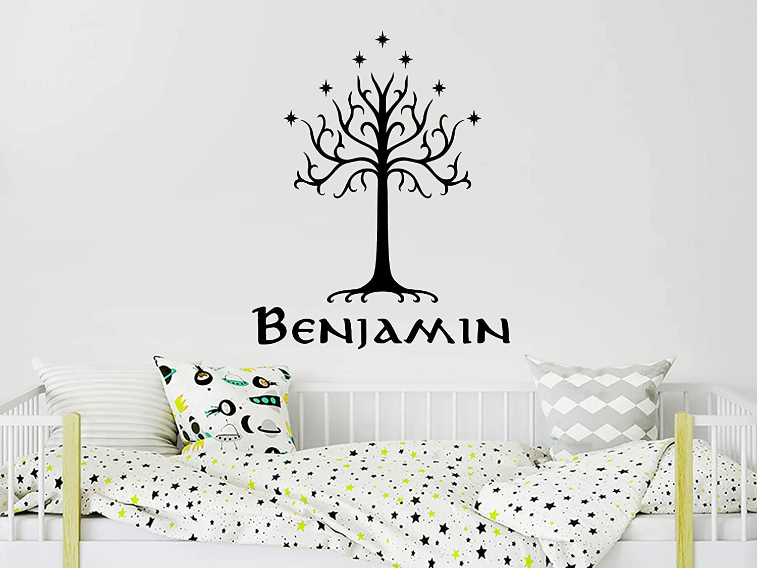 Amazon Com Tree Of Gondor Wall Decal Boy Name Vinyl Sticker Lord