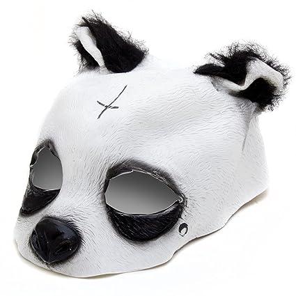 detailgetreue Panda Máscara – Panda Máscara de látex con Cruz y lágrima Máscara de Animales