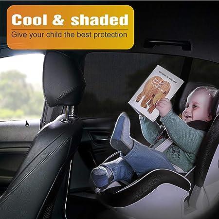 Vaxuia Auto Sonnenschutz Baby Volle Abdeckung Suv Limousine Hintere Seitenfenster über 90 Uv Schutz Universal Auto Sonnenschutz Zum Schutz Von Kindern Und Haustieren 2 Stück Auto